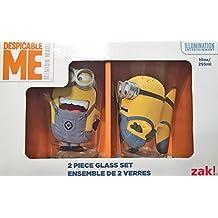 Zak Designs DESN-R190 Despicable Me 2 Glass Tumbler 2 Piece Gift Box, 10 oz, Multicolor