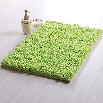 Apple Green Washable Bath Mat Bath Rugs With Anti Slip Backing 2 Sizes  Available