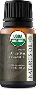Best Anise Star Essential Oil Pure Certified Organic Therapeutic Grade 10ml
