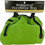 bulk buys OS328 Waterproof Bicycle Handlebar Bag, Black, Green, Silver