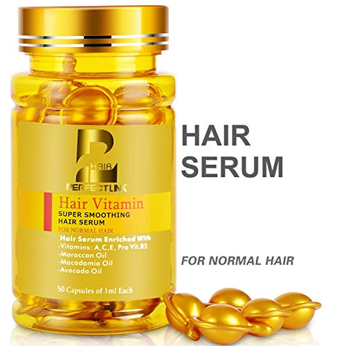Perfect Care Hair Serum, Hair Treatment with Argan, Macadamia and Avocado Oils, Vitamin B5 & Amino Acids for All Hair Types of Men and Women 50ML (Lemon Smell)