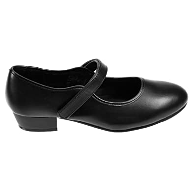 Starlite Negro Hyper Easy Slip On Leather Jazz Shoe 6L pkzE8Te