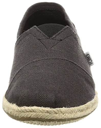 Black TOMS on Slip Classics Linen Seasonal Women's Shoes AAqTYHx