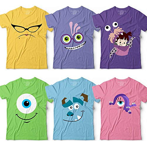 Cute Monsters Uni Mike-Sulley-Roz-Randall-Celia Characters Halloween Group Family Costume Customized Handmade Hoodie/Sweater/Long Sleeve/Tank Top/Premium T-shirt