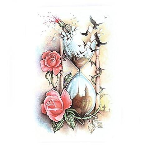 Amazon.com: Patrón eDealMax Flor de reloj de Arena de Eagle del brazo del Cuerpo Arte extraíble Papel de decoración de la etiqueta engomada Temporal del ...