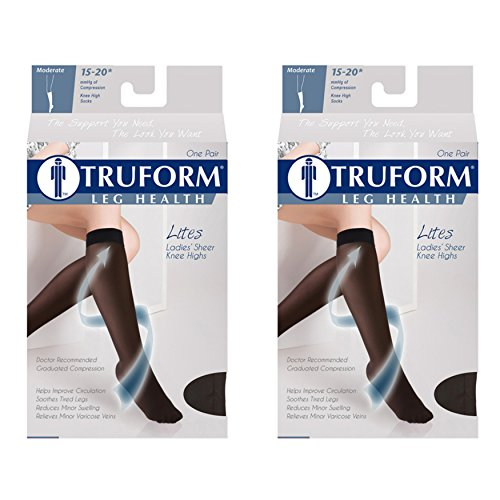 Truform Compression 15-20 Mmhg Sheer Knee High (Womens Lites Sheer Support)