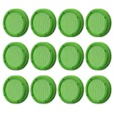 Amytalk 12 Pack Plastic Sprouting Lids for 86mm Wide Mouth Mason Jars, Sprouting Strainer Lid for Canning Jars, Suit for Grow Bean Sprouts, Alfalfa, Salad Sprouts etc