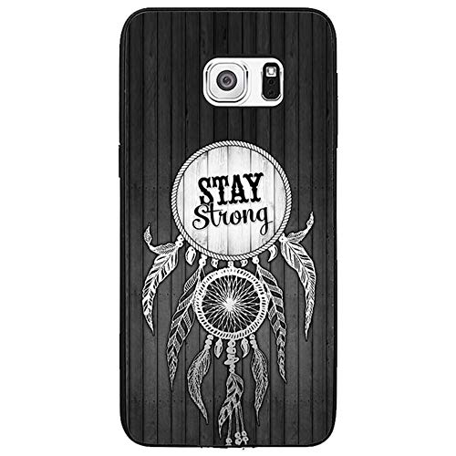 Skinsends Vanity Dreamcatcher Quote Stay Strong Back Cover Compatible with Galaxy s6 Edge Plus, Medal Ribbon Phone Cover Compatible with Samsung Galaxy s6 Edge Plus