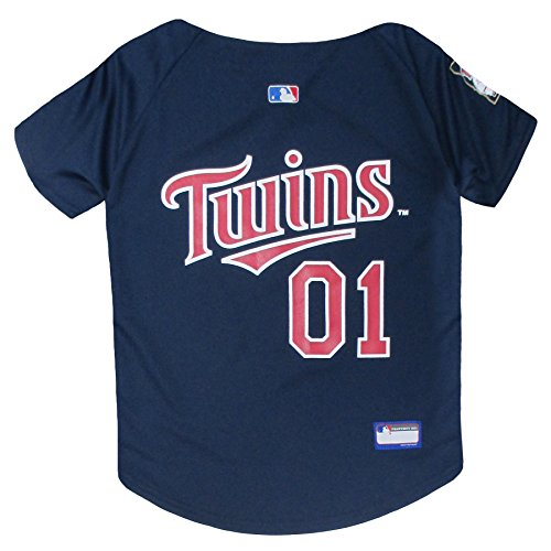 (MLB Minnesota Twins Dog Jersey, X-Large. - Pro Team Color Baseball Outfit)