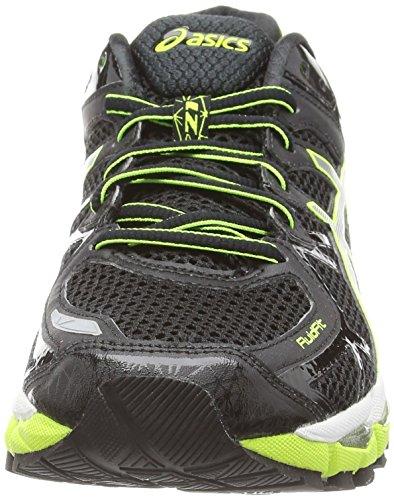 ASICS Gel-Kayano 21 - Zapatos de correr para hombre Negro (Black/Silver/Flash Yellow 9093)