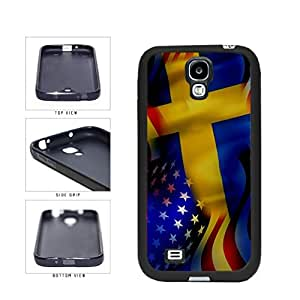 Sweden and USA Mixed Flag TPU RUBBER SILICONE Phone Case Back Cover Samsung Galaxy S4 I9500