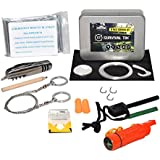 Survival Tin® 10 Piece Survival Kit - Ultimate Disaster Survival Gear | Emergency Preparedness Survival Kit | Includes Pocket Knife, Blanket, Compass Whistle Mirror Combo, Fire Starter, and More!
