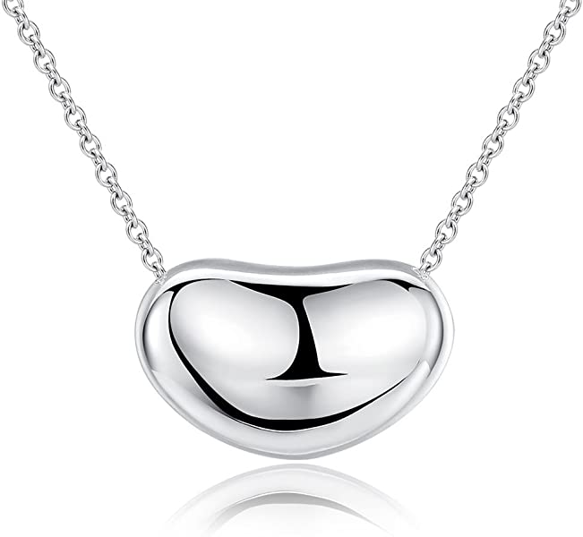 4e3843037eb9 Amazon.com  Ashley Jeweller .925 Sterling Silver Bean Charm Necklace ...