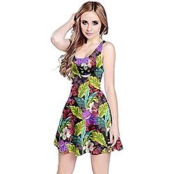 CowCow Womens Mystery Cat Sleeveless Dress, Mystery - XL