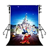MEETS 5x7ft Disneyland Backdrop Castle Prince Princess Photography Background Themed Party Photo Booth YouTube Backdrop NANMT904