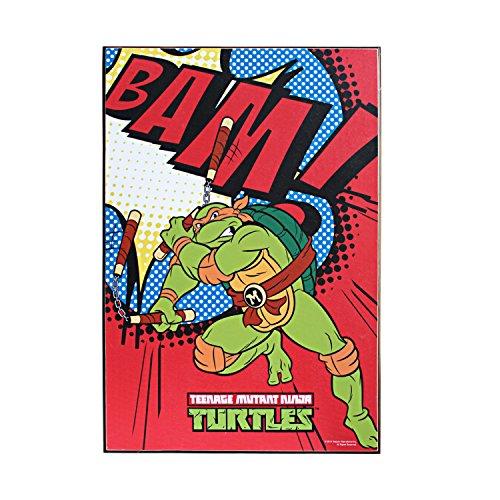 Silver Buffalo NT7036 Nickelodeon Teenage Mutant Ninja Turtles Bam! Wood Wall Art, 13 x 19 inches ()