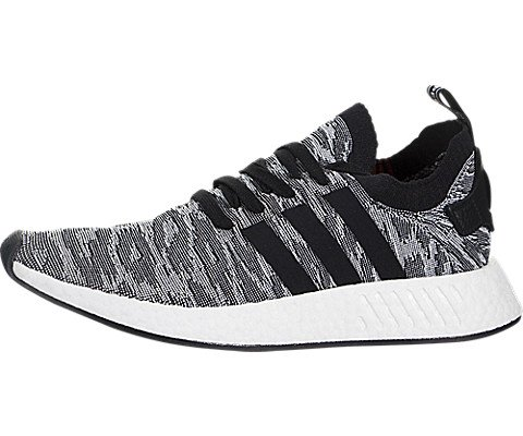 adidas Originals Men's NMD_R2 PK Running Shoe, Black/White,