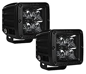Rigid Industries 20221BLK D-Series Midnight Edition Black Spot Optic, Pair