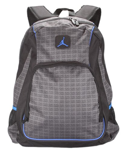 b45819bea30774 Amazon.com  Nike Jordan Backpack Bookbag School Bag Laptop Bag Lt. Graphite  Black Gray  Sports   Outdoors