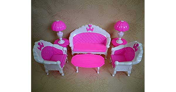 Amazon.com: Cheap Doll House Muebles, sofá Set: Toys & Games
