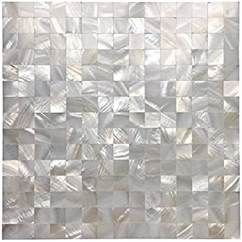 Amazoncom Art3d Mother Of Pearl White Mini Square Mosaic Tile 12