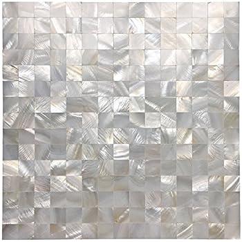 Art3d Mother of Pearl Mosaic Tile for Kitchen Backsplash/Bathroom/Shower Wall, 12