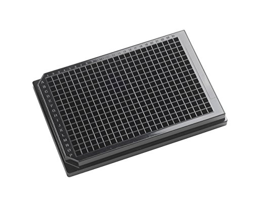 OPAQUE SOLID POLYSTYRENE ASSAY PLATES, 384-Well Microplates - 120µl square well, 384-well 120uL Polystyrene, Black, Tissue Culture Treated,With Lid. Individually packed. by Porvair-Finneran