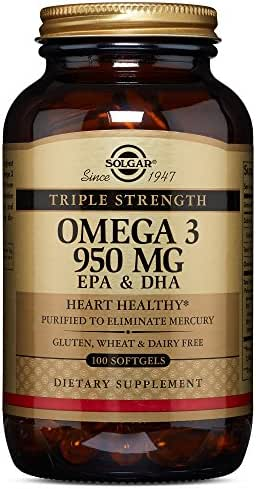 Solgar - Triple Strength Omega 3 EPA & DHA 950 Mg, 100 Softgels