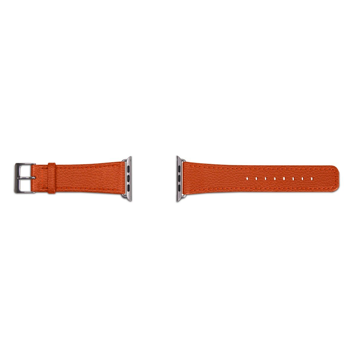 Lucrin - Apple Watch Band 42 mm - Classic - Orange - Granulated Leather by Lucrin (Image #4)