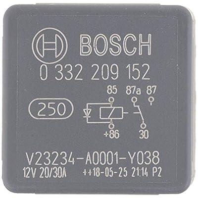 Bosch Automotive 0332209152 5 Pins, 12 V, 20/30 A, Changeover Mini Relays: Automotive