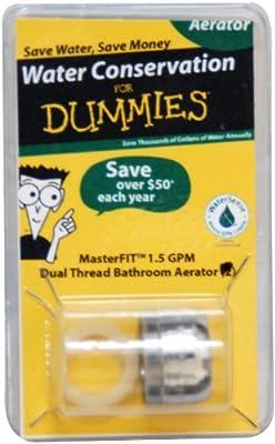 MasterFIT PF0549 WaterSense Universal Dual Thread Kitchen/Bathroom Faucet Aerator - Lead Free - 1.5 GPM