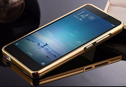 super popular f7756 b12e0 Kaira Mirror_redminote3_2 Luxury Metal Bumper Acrylic Mirror Back Cover  Case For Xiaomi Redmi Note 3- Gold