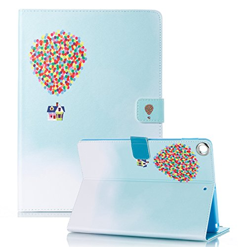 iPad 9.7 Inch 2018 2017 Case - Anvas Lightweight Smart Shell Standing Protective Cover with Auto Wake/Sleep for Apple iPad 6th Gen/iPad 5th Gen 9.7 Inch Tablet,Hot Balloon (Balloon Pencils)