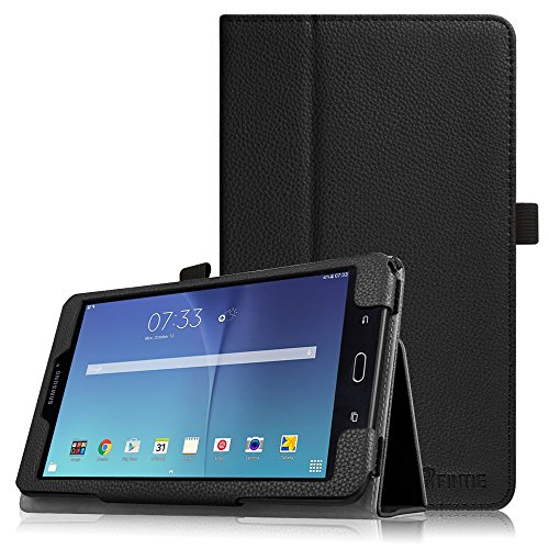 Fintie Folio Case for Samsung Galaxy Tab E 8.0 - Premium PU Leather Slim Fit Smart Stand Cover for Galaxy Tab E 32GB SM-T378 / Tab E 8.0-Inch SM-T375 / SM-T377 Tablet, Black by Fintie