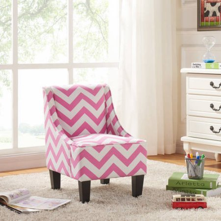 Amazon.com: Better Homes and Gardens Kids Swoop Chair (Pink Cheveron ...