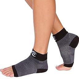 Plantar Fasciitis Sock (1 Pair Medium, Black), FDA Registered Premium Ankle Support Foot Compression Sleeves