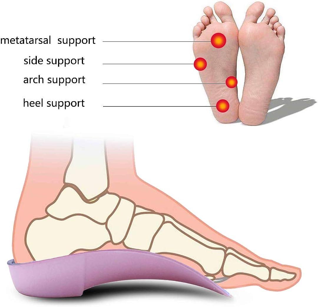 PCSsole 34 Plantillas de calzado ortopédico Soportes de arco alto Plantillas de zapatos para la fascitis plantar,Pie plano, Sobre pronación,Alivio