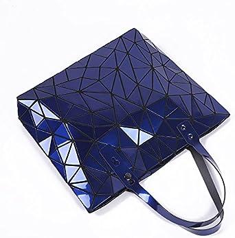 Shoulder Bags Women Handbag Female Folded Geometric Plaid Casual Tote Pu Messenger Bag Mochila