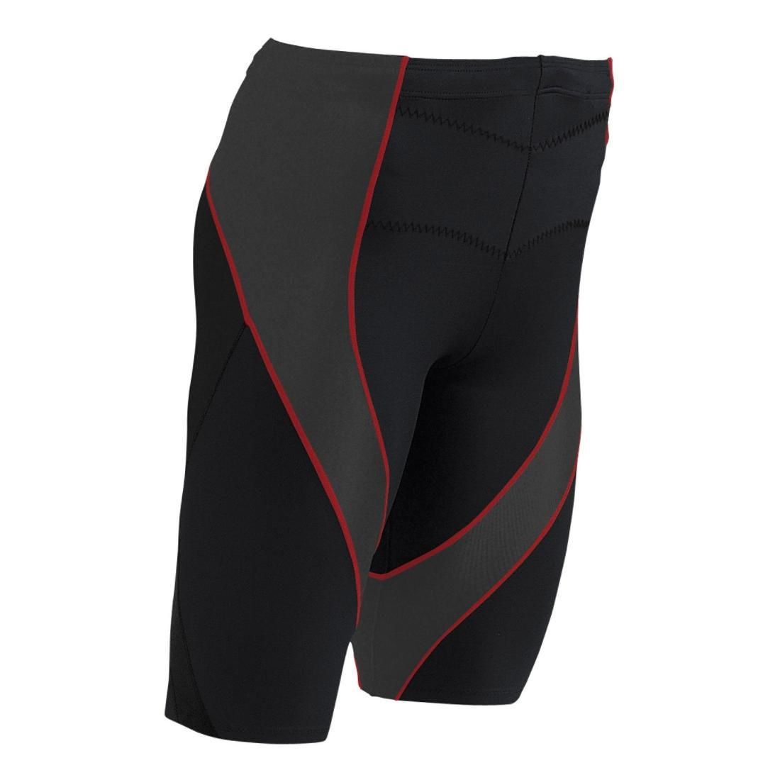 CW-X Conditioning Wear Men's Pro Shorts, Small, Black/Grey/Orange by CW-X (Image #1)