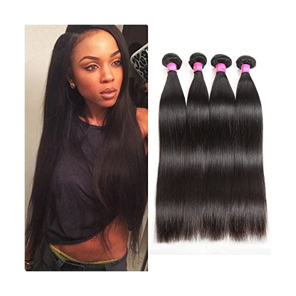 Isee Hair 8a Malaysian Virgin Straight Hair 4 Bundles 100