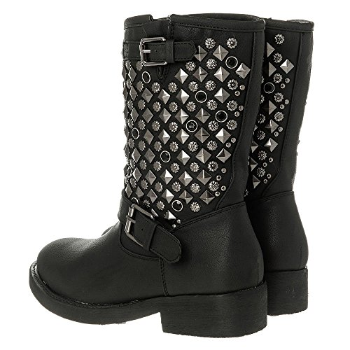 Womens Ladies Low Heel Platform Pull On Ankle Boot black matt yxpihjY2