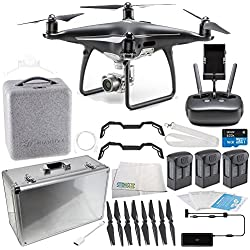 DJI Phantom 4 PRO Obsidian Edition Drone with Aluminum Carrying Case Bundle