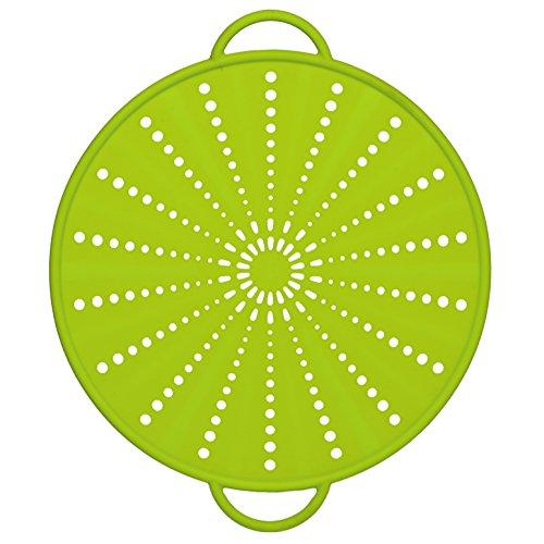 Emsa 514558 Spritzschutz, Ø 31 cm, Silikon, Grün, Smart Kitchen