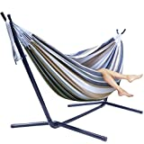 Sorbus Double Hammock + Steel Stand Two Person Adjustable Hammock