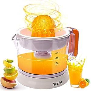 Electric Citrus Juicer, Large Capacity | Auto Reverse Pulp Fresh Oranges, Lemons, Limes, Grapefruits etc for Healthy Juice