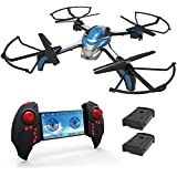 KAI DENG K80 WIFI FPV RC Drone with 720P HD Camera live video, Kids Drones for Beginner & Kids with Extra 2 Batteries