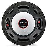 Kicker 10'' 1600W 2-Ohm Vented Dual Loaded Car Enclosure Subwoofers   43DCWR102
