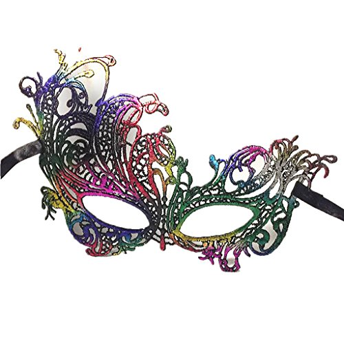 GRACIN Womens Lace Masquerade Swan Mask, Sexy Venetian Party Mask for Halloween Carnival, Prom Ball(One Size, Phoenxi) ()