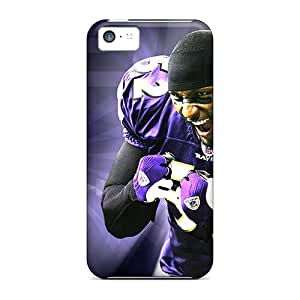 Iphone 5c CUX19903hkJP Provide Private Custom HD Baltimore Ravens Image Scratch Resistant Hard Cell-phone Cases -DustinFrench