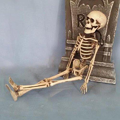 40cm Horror Movable Skull Skeleton Halloween Props Evil Party Favors halloween eve Scary Halloween Decoration (Halloween Evil Has A Destiny)